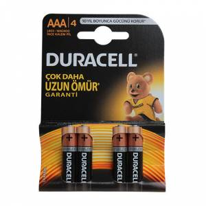 Duracell LR03/MN2400 1.5 V AAA İnce Pil 4 Adet