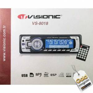 Visionic VS-8018 Usb Oto TEYP CD RADYO MP3 USB VE HAFIZA KART ÇALAR