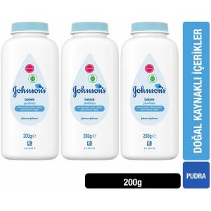 Johnsons Baby Bebek Pudrası 200GR (3 Lü Set)