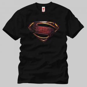 Crazy Justice League Superman Metallic Symbol Erkek Tişört
