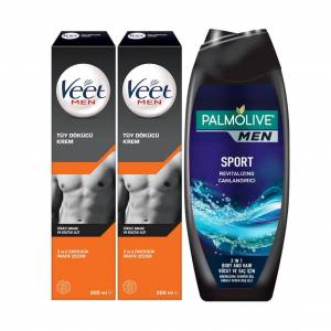 Veet Men Tüy Dökücü Krem 200ml X 2 + Palmolive Men D. Jeli 500ml
