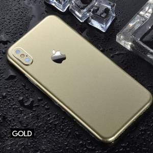 İphone Xs Max 6.5 Parlak Arka Yan Kaplama Sticker GOLD