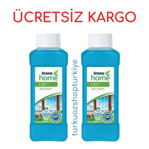 2 ADET Amway Cam Temizleyici AMWAY HOME LOC