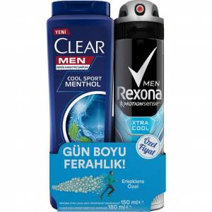 Rexona Xtra Cool Erkek Deodorant 150ml+Clear Şampuan 180ml
