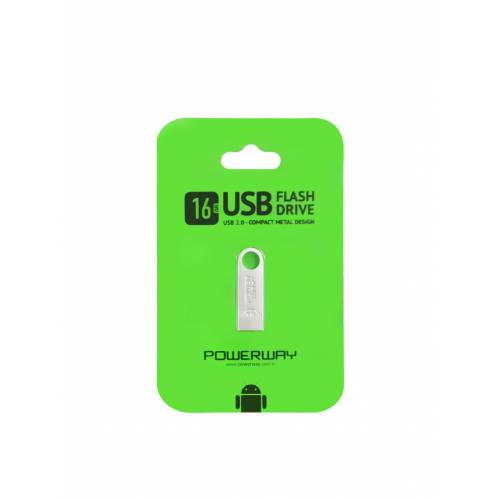 POWERWAY 16 GB METAL USB BELLEK