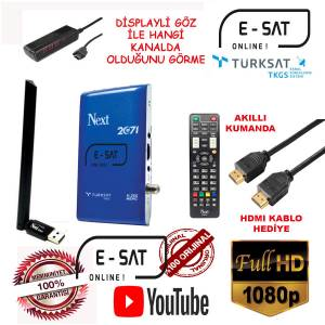 NEXT 2071 FULL HD H265 ETHERNETLİ UYDU ALICISI + WİFİ HEDİYELİ