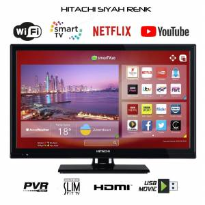 HITACHI 24INC(61CM) FULLHD SMART WIFI 600HZ ULTRAİNCE KARASAL TUNERLİ LED TV (Vestel İhracat Ürünü)
