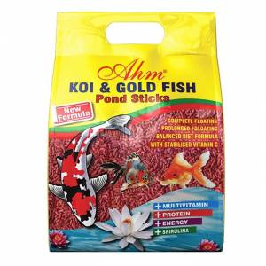 Ahm Koi Goldfish Colour Pond Sticks Balık Yemi 1 Kg