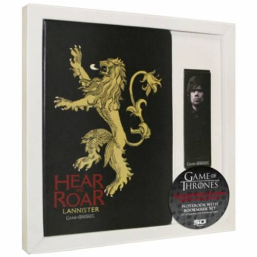Game of Thrones Notebook  Bookmark Set Lannister Defter