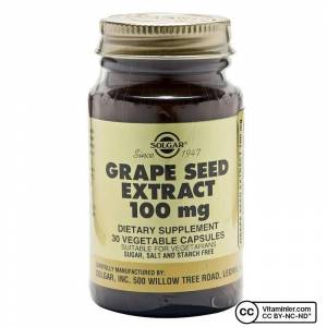 Solgar Grape Seed Extract 100 Mg 30 Kapsül AROMASIZ