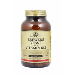 Solgar Brewer's Yeast With Vitamlin B12 250 Tabet -