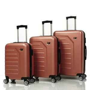 Ox Luggage 01010 Rose Gold 3'Lü Set Abs Valiz