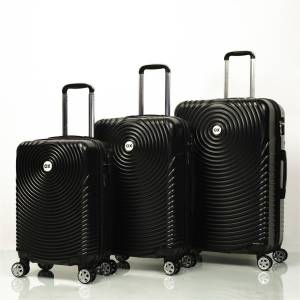 Ox Luggage 01030 Siyah 3'Lü Set Abs Valiz