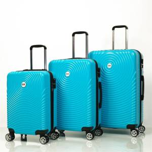 Ox Luggage 01030 Turkuaz 3'Lü Set Abs Valiz
