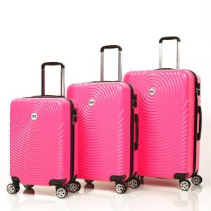 Ox Luggage 01030 Fuşya 3'Lü Set Abs Valiz