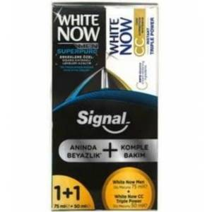 Signal White Now Gold 75ml + 50ml CC Gold Power Dİş Macunu