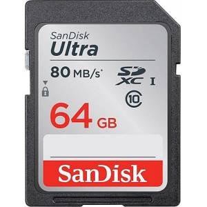SANDİSK 64GB SD CLASS 10 80MBS 533X CARD
