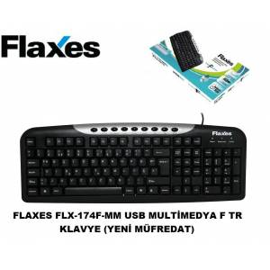 Flaxes FLX-174F-MM USB Multimedya F TR Klavye