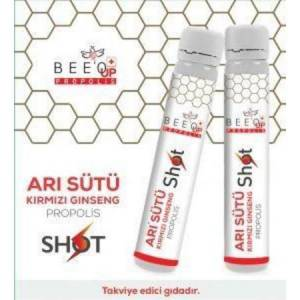 BEE UP PROPOLİS ARI SÜTÜ KIRMIZI GİNSENG SHOT 15 ADET 25 ML SKT:08.2023