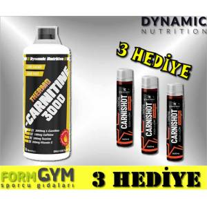 Dynamic Nutrition Thermo L-Carnitine 3000 mg Karpuz 1000 ml + 2 HEDİYE