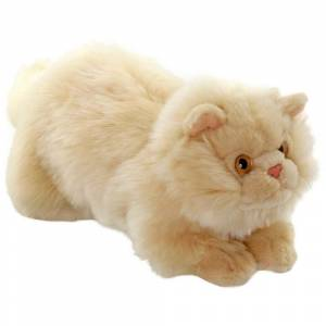 Animals Of The World Yatan Bej Kedi Peluş Oyuncak 26 cm