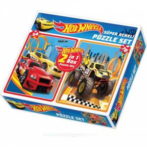 Diy-Toy Hot Wheels 2 in 1 Puzzle Seti 1535