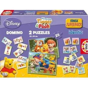 Educa My Friends Tigger & Pooh Eğitici Superpack Kutu Oyunu ve Puzzle