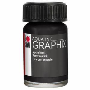 Marabu Aqua Ink 15 ml Black 39073