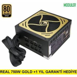 GAMETECH GTP-750M 750W 80 Plus Gold Modüler Power Supply PC Güç Kaynağı
