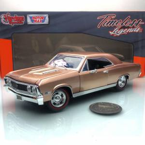 1967 Chevy Chevelle SS 396 Gold 1:18 Olcek MotorMax