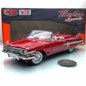 1960 Chevrolet Chevy İmpala Convertible Red 1:18 MotorMax