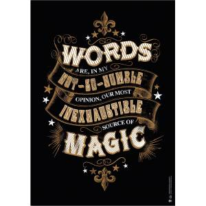 Warner Bros Harry Potter Magic Words Tipgrafik Poster 50x70 cm