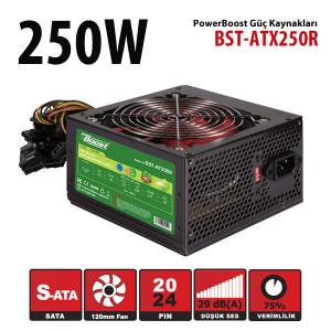 POWER BOOST BST-ATX250R 250W 12CM POWER SUPPLY KUTULU