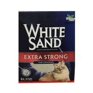 White Sand Extra Strong Fine Franül Cat Litter 6 Lt - Ever Clean