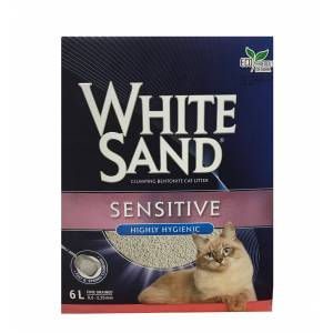 White Sand Sensitive Highly Hygıenic Cat Litter 6 Lt - Ever Clean