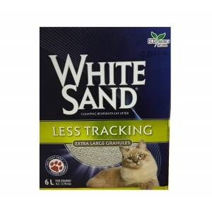 White Sand Less Tracking Extra Large Granül 6 Lt