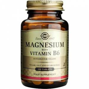 Solgar Magnesium With Vitamin B6 100 Tablet SKT:01/2022