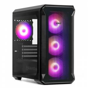 Dark Guardian Mini PRO 4x12cm ARGB LED Fanlı, Tempered Glass, Mesh Ön Panel USB 3.0 Mid Tower Siyah