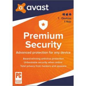 Avast Premium Security - 1 PC 1 Yıl - Windows 10, 8.1, 8, 7 (SP2) - Aktivasyon Kodu - Türkçe