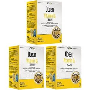 Ocean Vitamin D3 400 IU 20 ml 3 Kutu