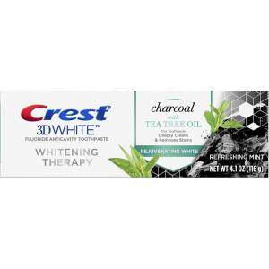 Crest Charcoal 3D White Toothpaste, Whitening Therapy, with Tea Tree Oil 116gr MADE İN USA SKT:09/22