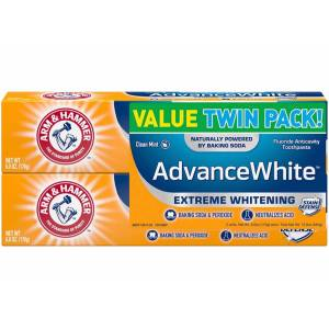 Arm & Hammer Twin Pack Backing Soda & Peroxide Thoothpaste 340gr. MADE IN USA SKT:10/23