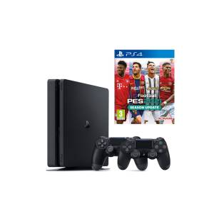 Sony Playstation 4 Slim 500 GB + 2. PS4 Kol Dualshock 4 + PES 2021 Oyun Konsolu