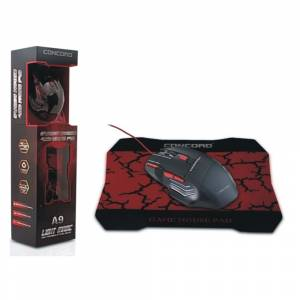 CONCORD A9 GAMİNG OYUNCU MOUSE VE MOUSE PAD