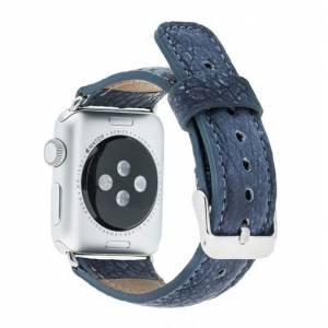 Barchello Apple Watch 38mm Deri Kordon Kayış -Lacivert