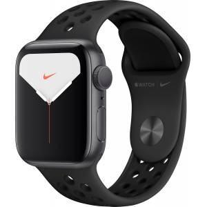 Apple Watch Nike Seri 5 40mm GPS Space Grey Alüminyum Kasa ve Antrasit/Siyah Nike Spor Kordon MX3T2T