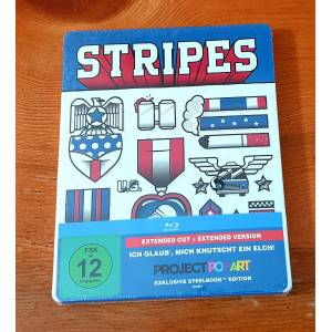 Stripes Steelbook Limited Edition Bluray Pop Art Baskı - Bill Murray 1981 Ambalajında..
