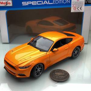 2015 Ford Mustang Orange Metallic 1:18 Ölçek Maisto Marka