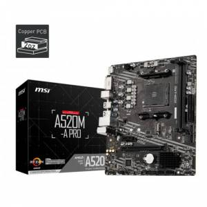 MSI A520M-A PRO AM4 DDR4 S+V GL AM4