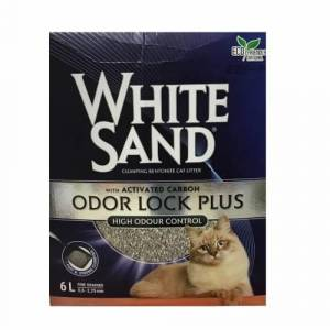 White Sand Odour Look Plus Cat Litter Aktiv Karbonlu Kedi Kumu 6Lt